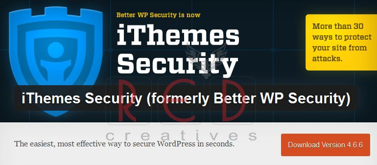 WordPress  iThemes Security formerly Better WP Security