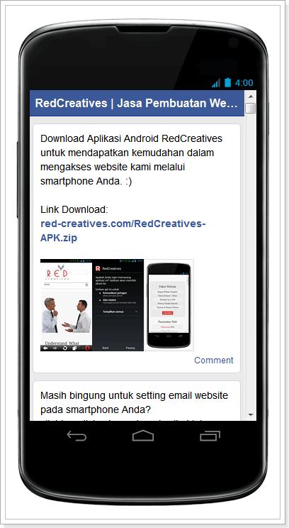 Aplikasi Fans Page Facebook RC