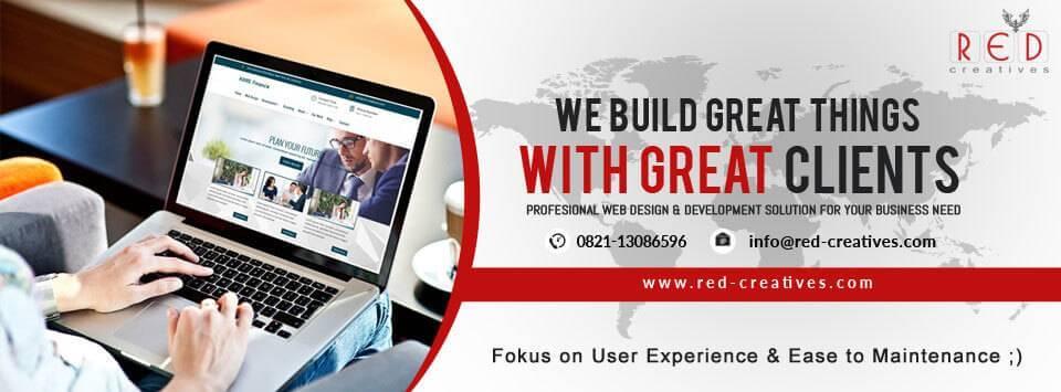 redcreatives design, website bogor, jasa pembuatan website bogor, visi misi website