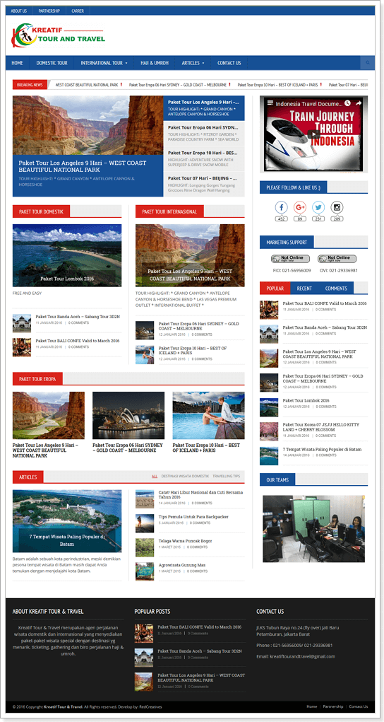 template web travel, template website travel, template web tour and travel