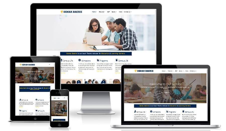 jasa pembuatan website sekolah, jasa web sekolah, template website sekolah