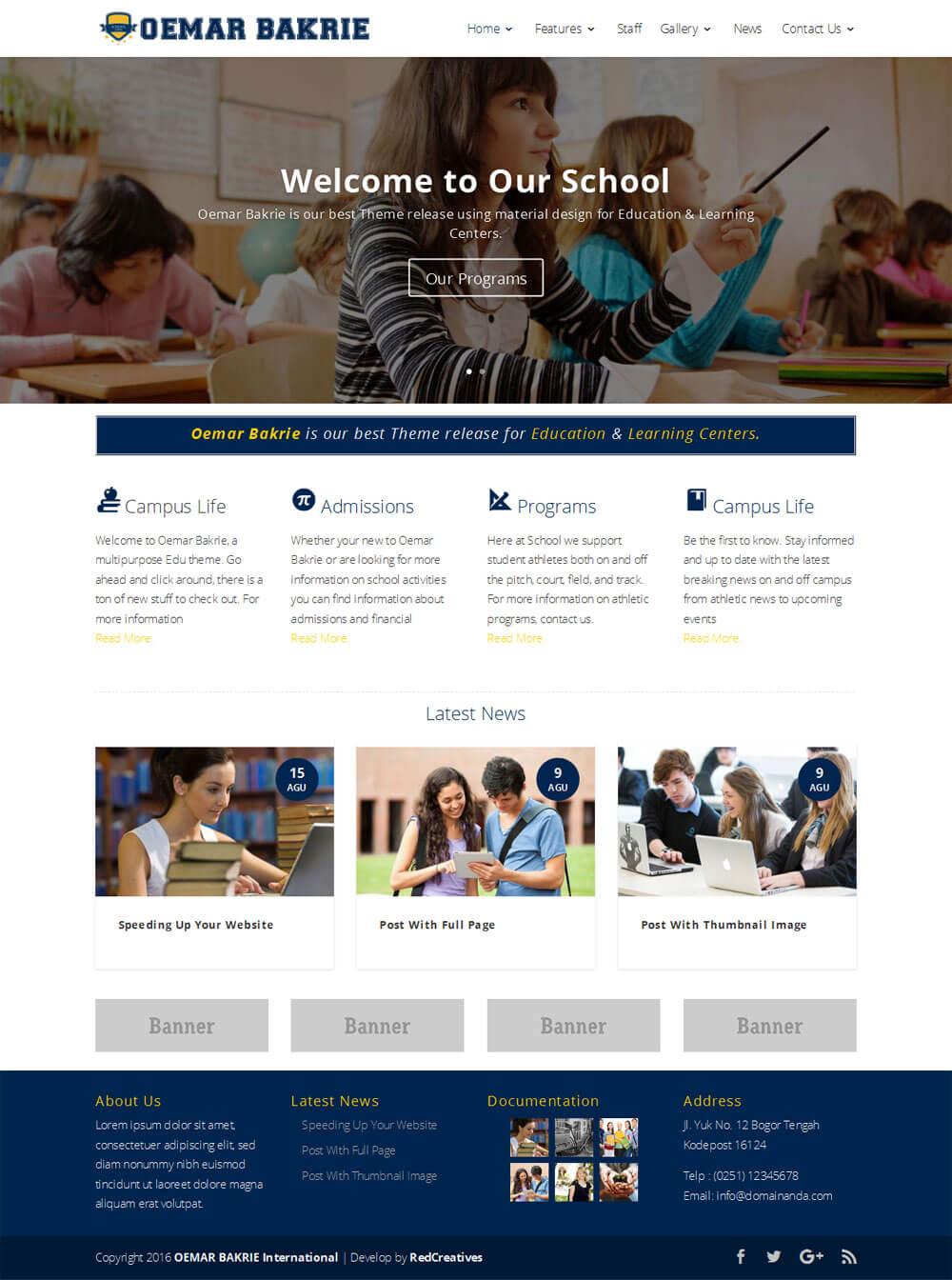 template-web-sekolah