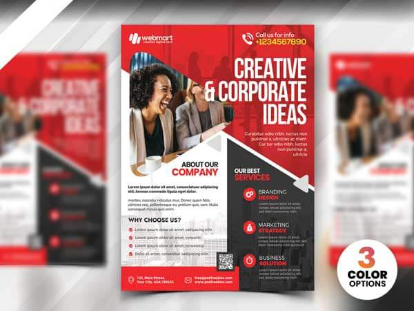 download template flyer gratis