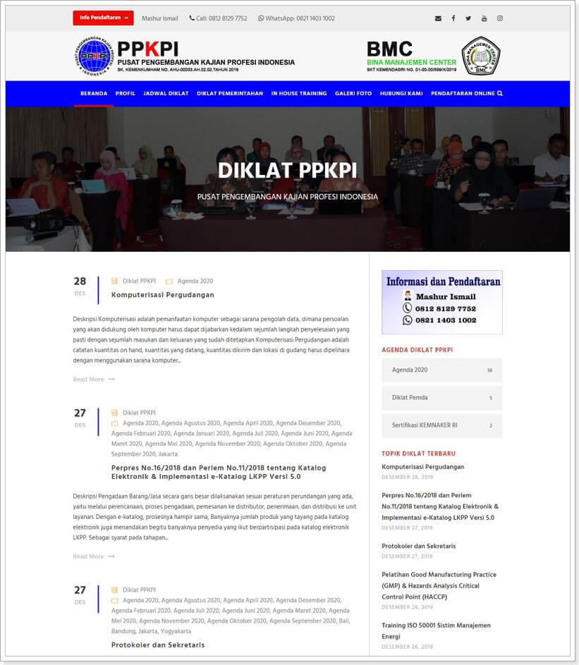 website public training jakarta