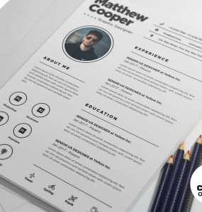 Clean-Resume-CV-PSD-Template