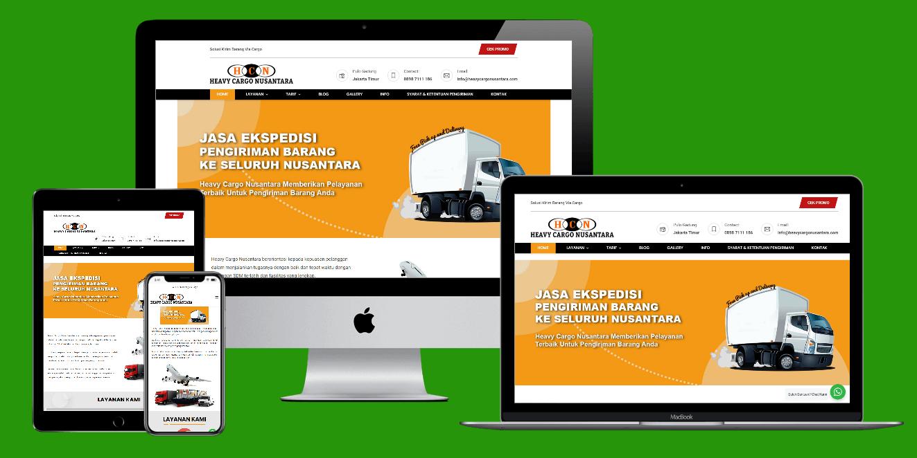 Jasa Pembuatan Website Perusahaan Cargo
